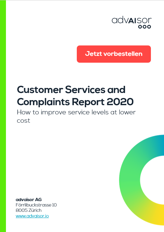 Customer Service and Complaints Report 2020 - Jetzt vorbestellen